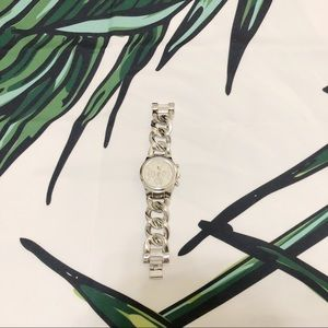 CHARMING CHARLIE Silver Braided Band Watch